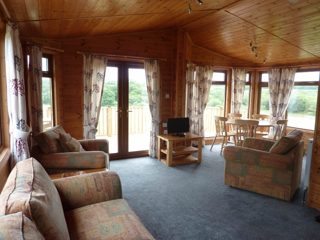 Cornwall Willow Lodge Holiday Living Room