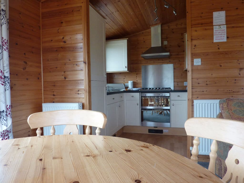 Cornwall Willow Lodge Holiday Kitchen