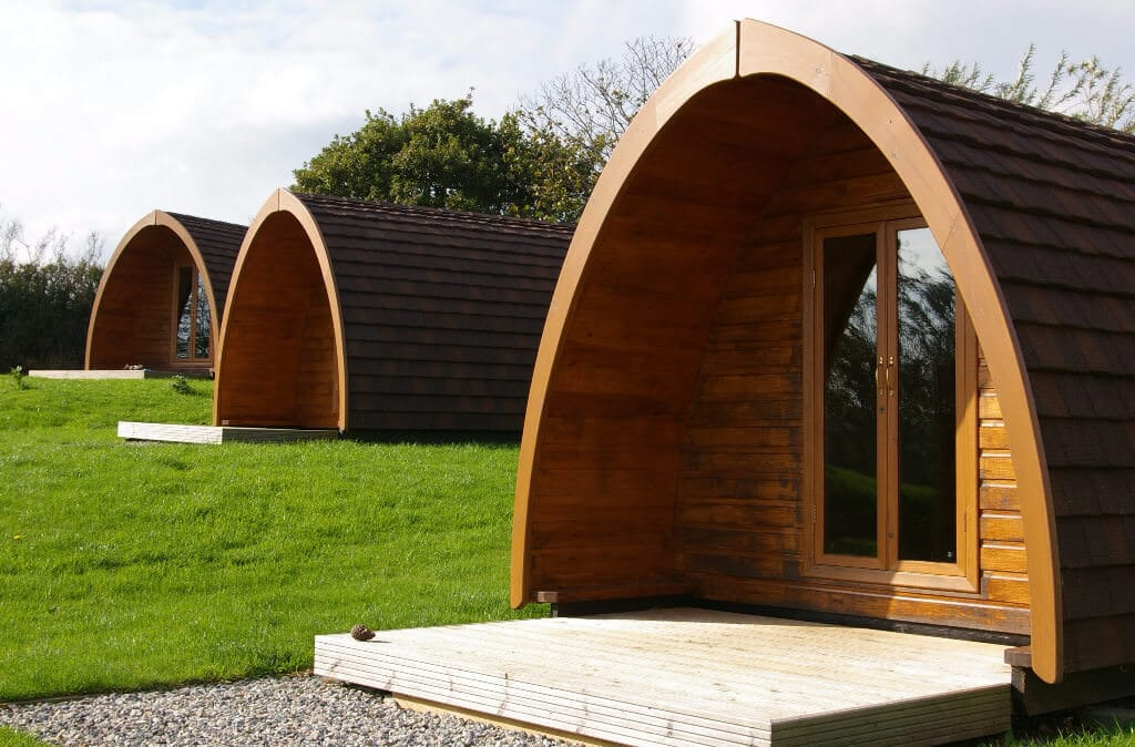 Exterior View of Camping Pods Cornwall